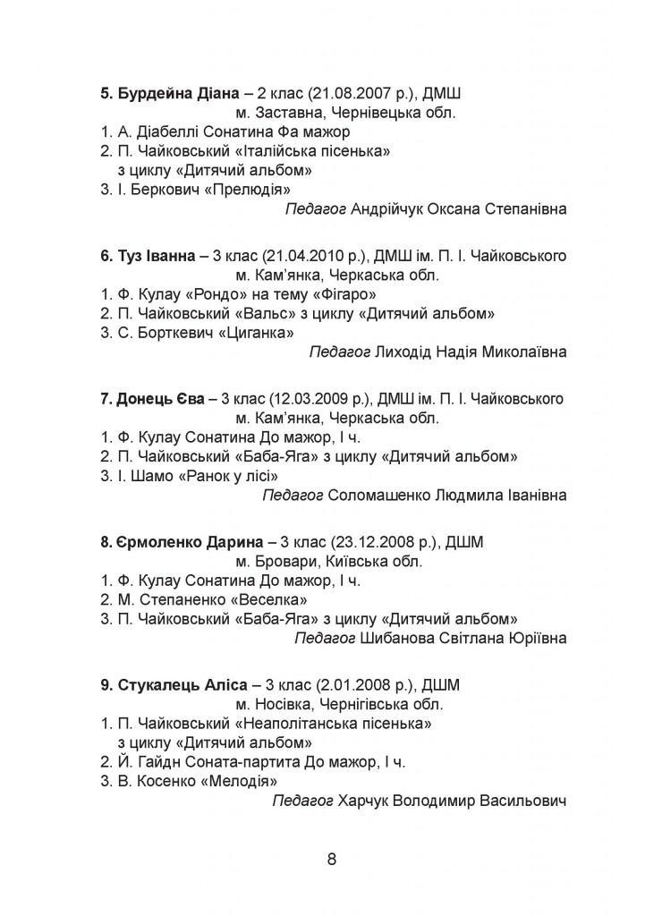 програма Чайковський - 0008